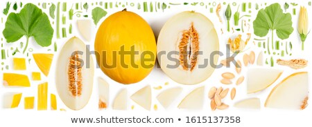 Seamless pattern of ripe yellow melons Stock photo © boroda