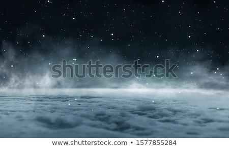Mezzanotte neve ferroviario strada brano allarme Foto d'archivio © kaycee