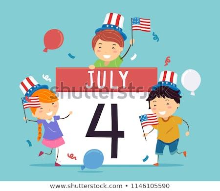 USA · zászló · tűzijáték · Egyesült · Államok · Amerika · negyedike - stock fotó © bmwa_xiller