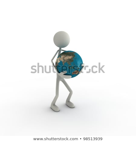 figure with a globus in his hands Stock photo © bmwa_xiller