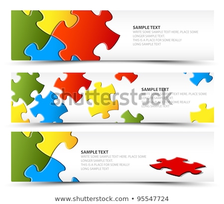 Set of puzzle horizontal banners Stock photo © orson