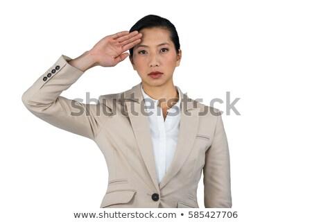 Businesswoman saluting Stock photo © photography33