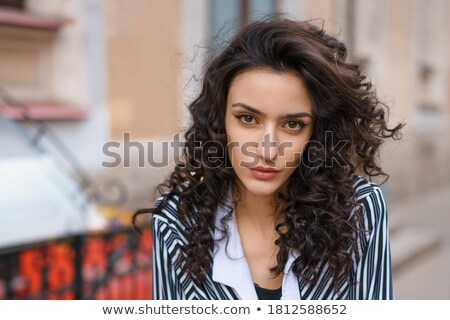 Poupe regarder jeunes brunette beauté portrait Photo stock © lithian