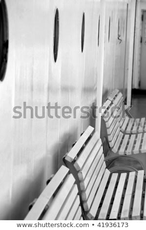 benches and portholes on ship deck Stock photo © sirylok