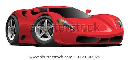 Karikatür stil yarış araba spor yağ Stok fotoğraf © Kaludov