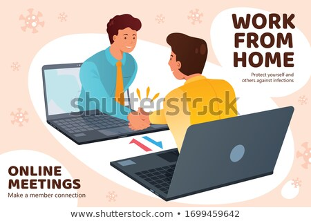 Two men showing a laptop computer Stock photo © photography33