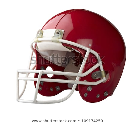 Red football helmet Stock photo © m_pavlov