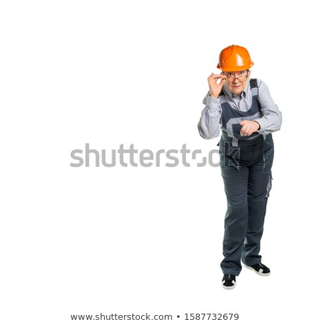 Strict woman looks at us Stock photo © pzaxe