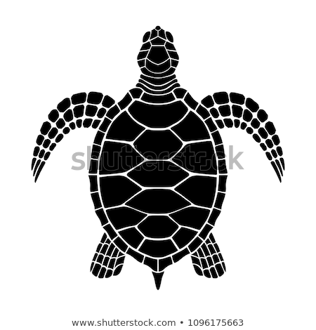 silhouette of loggerhead turtle stock photo © perysty