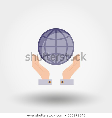 Foto stock: Hands Holding A Seo Sphere