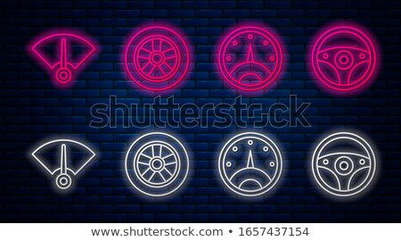 Car neon dashboard gauges Stock photo © broker