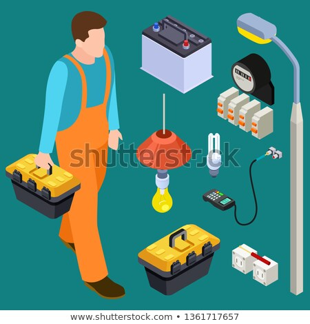 Man with tool box and cable Stock photo © photography33