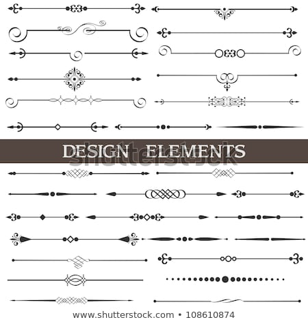 decorative design elements and page decor vector illustration stock photo © prokhorov