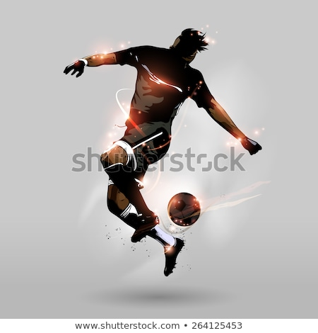 Vector Football Players with Ball and Grass Stock photo © Kaludov
