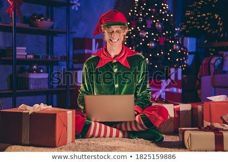 девушки · вектора · Рождества · довольно - Сток-фото © urchenkojulia