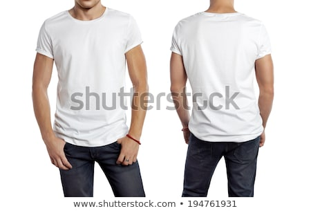 teenager with blank white shirt stock photo © sumners