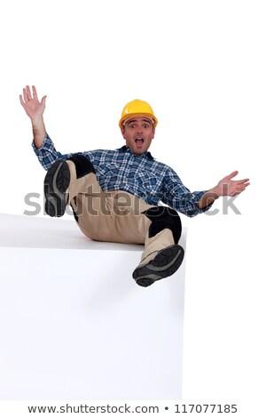 átlagos munkás felső fehér kék személy Stock fotó © photography33
