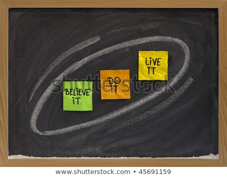 believe, do, live it - motivational concept Stock photo © PixelsAway