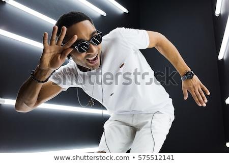 Zwarte afrikaanse rap grijs oefening Stockfoto © get4net