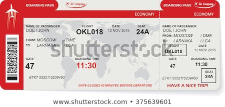 Companhia aérea bilhetes imagem feliz mulher Foto stock © pressmaster