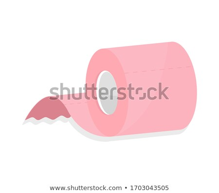 rouler · rose · papier · hygiénique · isolé · blanche · papier - photo stock © digitalr