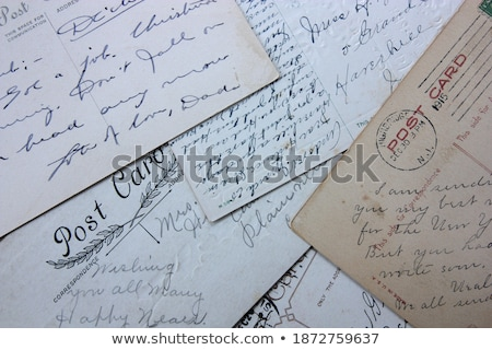 Old handwriting of 1915 Stock photo © samsem