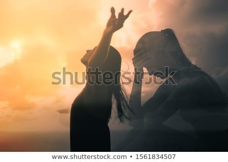 geloof · angst · twee · tegenover · pijlen · leidend - stockfoto © 3mc