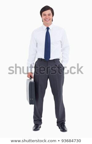 Uśmiechnięty handlowiec walizkę biały człowiek szczęśliwy Zdjęcia stock © wavebreak_media