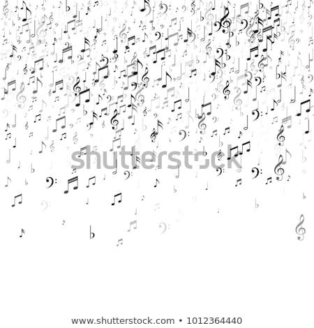 music notes fall stock photo © alexaldo