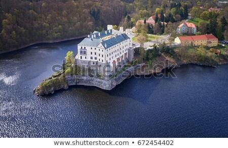 ruiner · château · arbres · vue · ciel · bois - photo stock © ondrej83