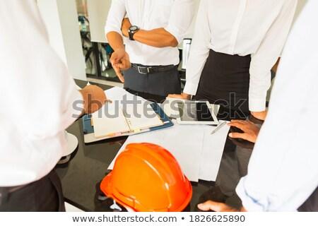 Fiatal építész modell lakásügy üzlet otthon Stock fotó © photography33