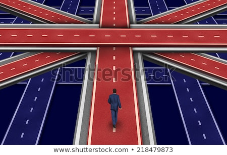 great britain highway flag stock photo © lightsource