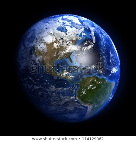 Earth planet showing South america Stock photo © Lightsource