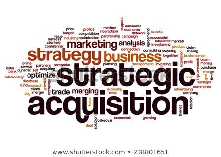 Stratégique entreprise hostile actionnaire accord grand Photo stock © Lightsource