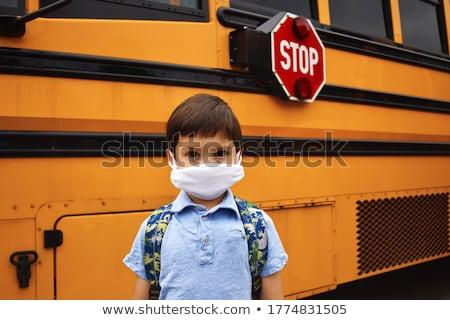 молодые школьник Постоянный белый изолированный стороны Сток-фото © get4net