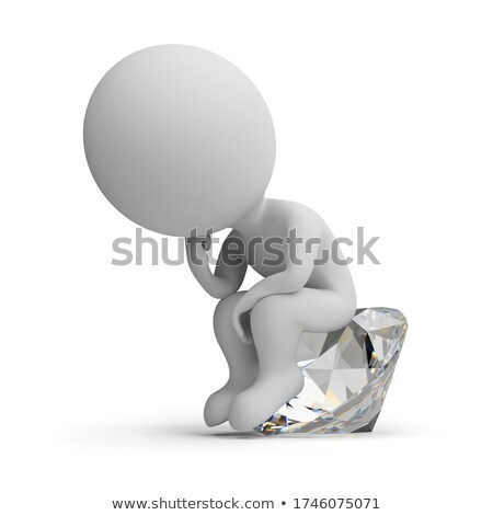 Stock photo: 3d small people - jewel