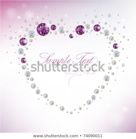 vector purple heart on diamond background stock photo © elisanth
