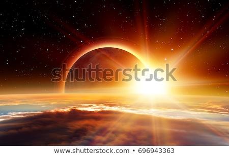 Nap fogyatkozás kép gyönyörű égbolt Föld Stock fotó © magann
