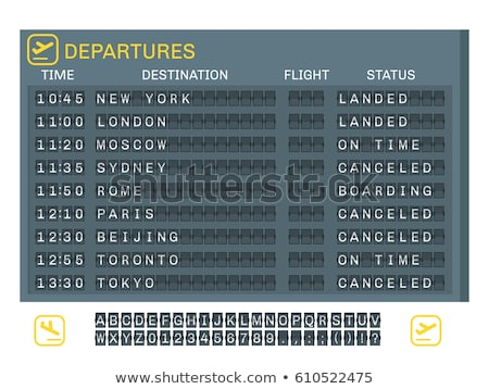 plane departure board Stock photo © smithore