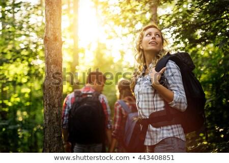 Szczęśliwy chodzić lasu młodych matka dziecko Zdjęcia stock © gophoto