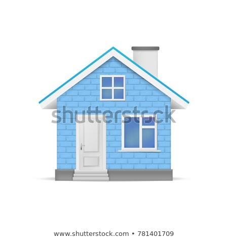 Blue House Symbol Stock photo © sgursozlu