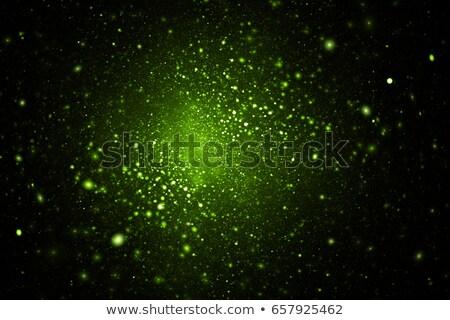 Foto stock: Abstrato · verde · chamas · fogo · fundo · laranja