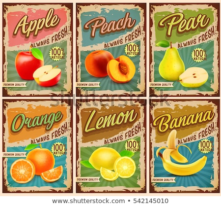 Fruit labels with apples Stock photo © kariiika