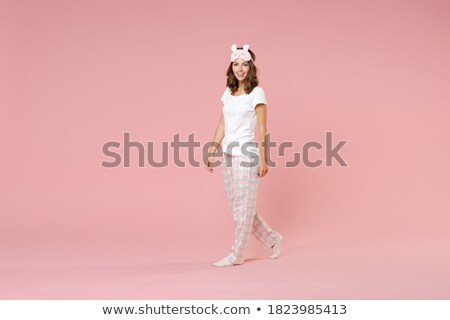 woman wearing white underwear looking at camera stock photo © chesterf