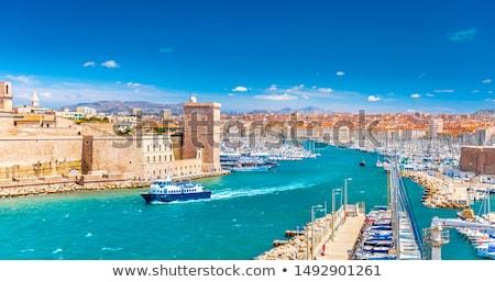 Marselha · França · panorama · edifício · parque · estátua - foto stock © tannjuska