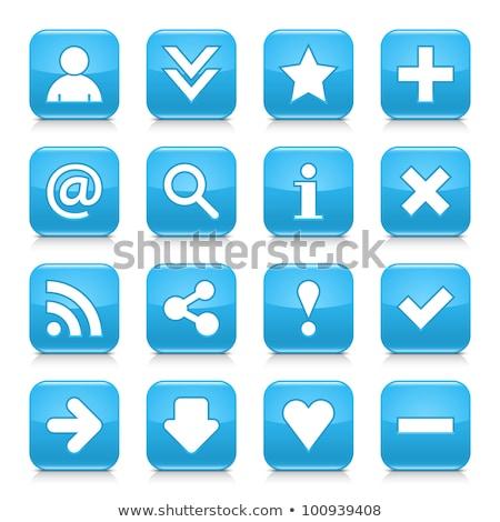 Azul ícone Foto stock © Myvector