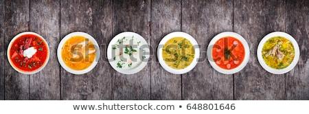 Asya tavuk baharatlar pirinç makarna Stok fotoğraf © doupix