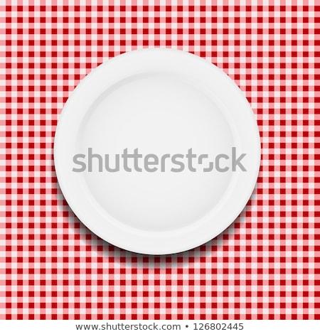 wektora · zestaw · kolorowy · piknik · gotowania · obrus - zdjęcia stock © freesoulproduction