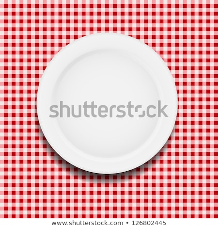 Сток-фото: Vector Set Of Picnic Cooking Tablecloth