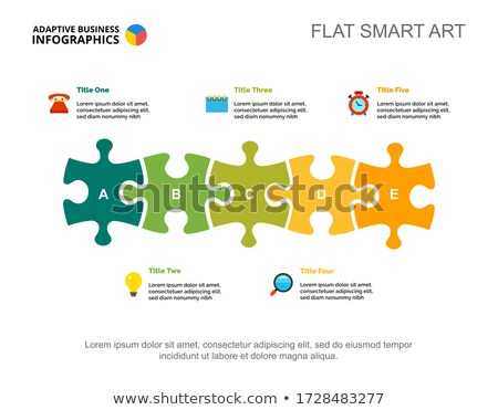 Time Management Concept on Multicolor Puzzle. Stock photo © tashatuvango
